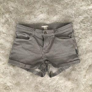 Striped H&M shorts